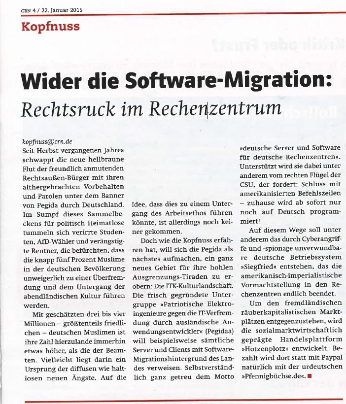 Wider die Software-Migration ©crn.de