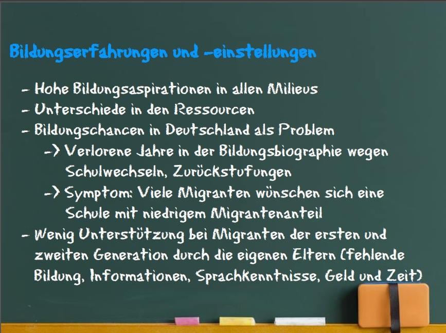 Bildungserfahrungen und -einstellungen ©Heinrich Heine Universität 2015