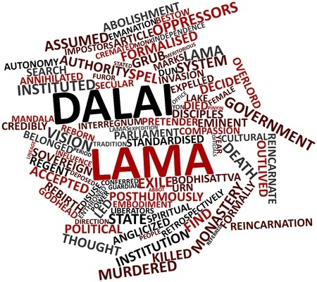 Abstract word cloud for Dalai Lama with related tags and terms_17024531©clipdealer.de
