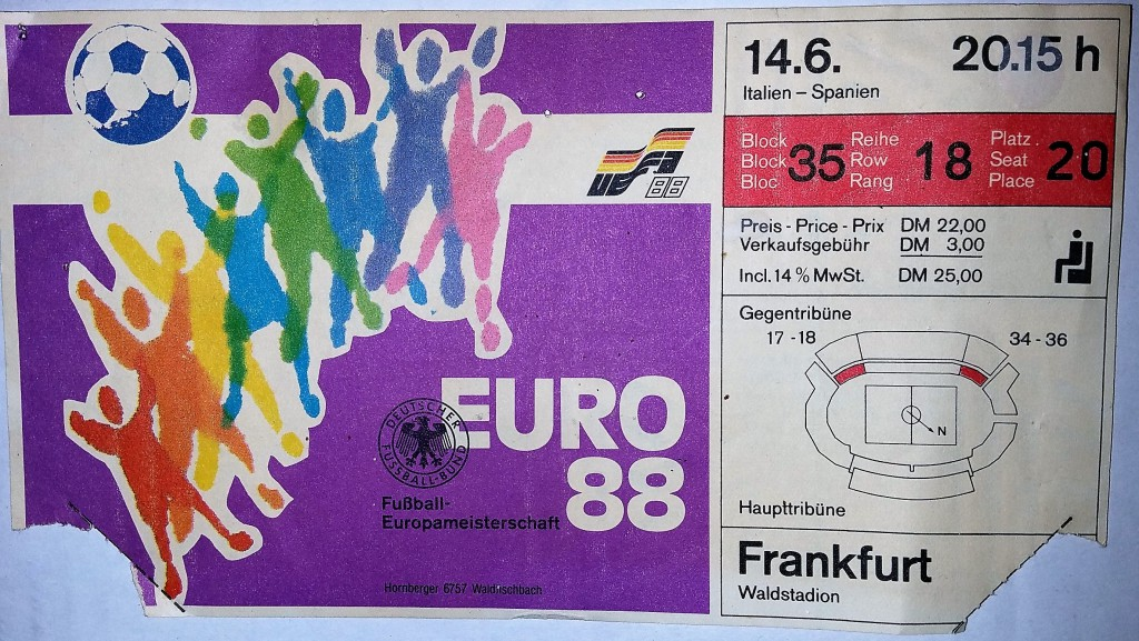 Euro_1988_Eintrittskarte ©Marcello Buzzanca