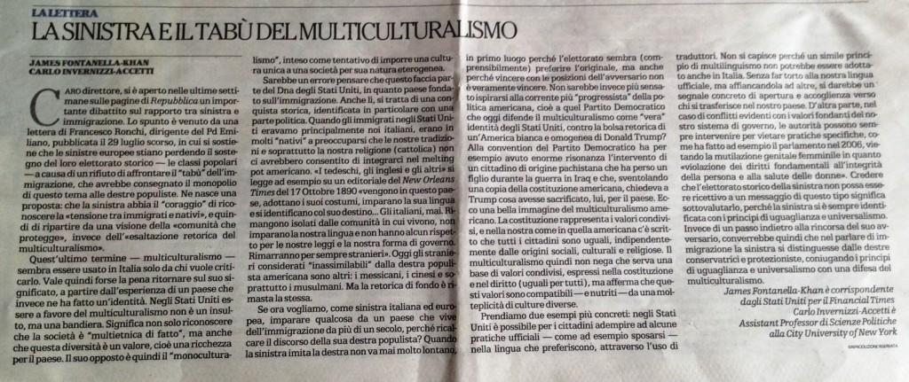 Multiculturalismo in der Repubblica