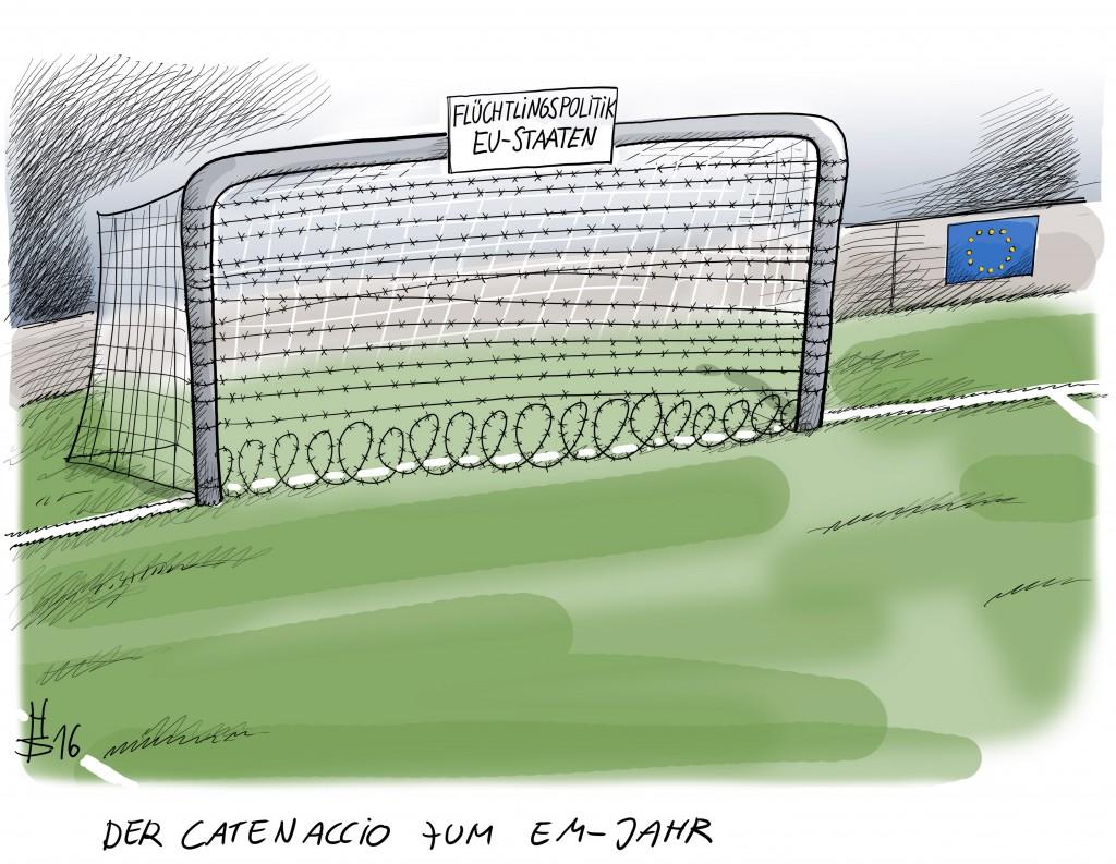 04 Der Catenaccio zum EM Jahr, 2016 © Heiko Sakurai