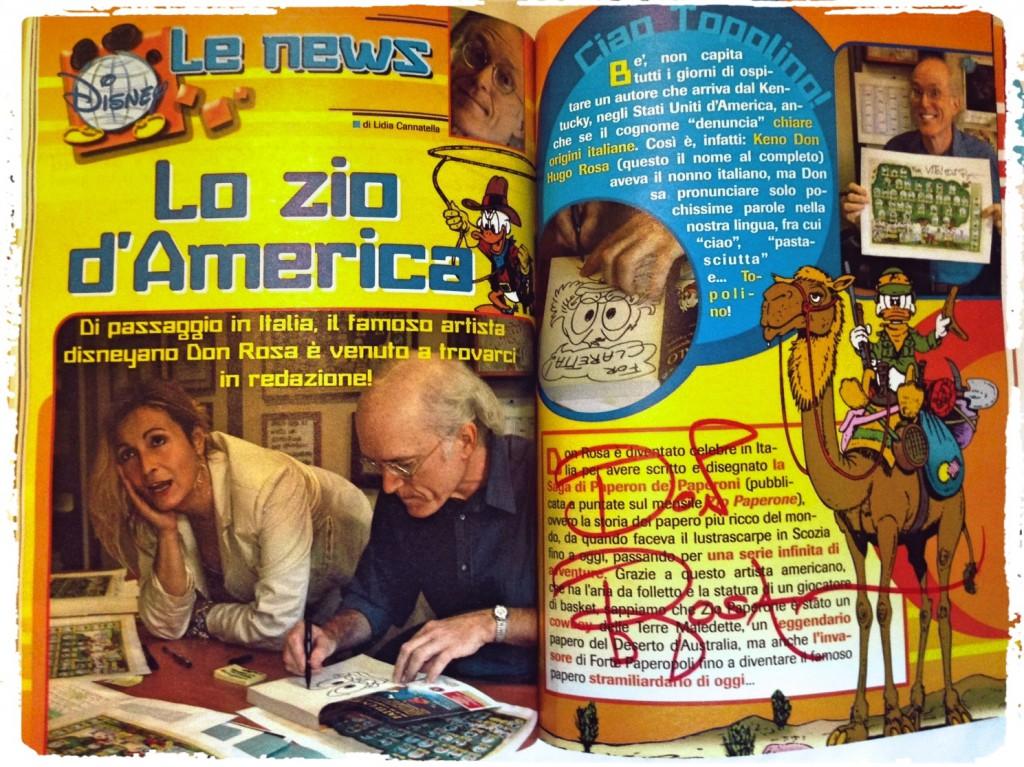 Topolino signiert von Don Rosa