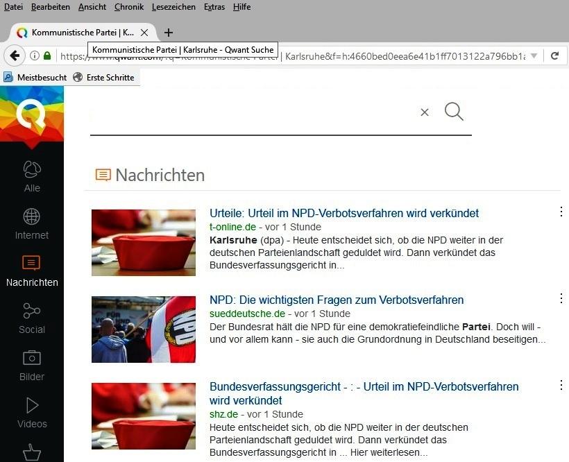 qwant Screenshot KPD_NPD